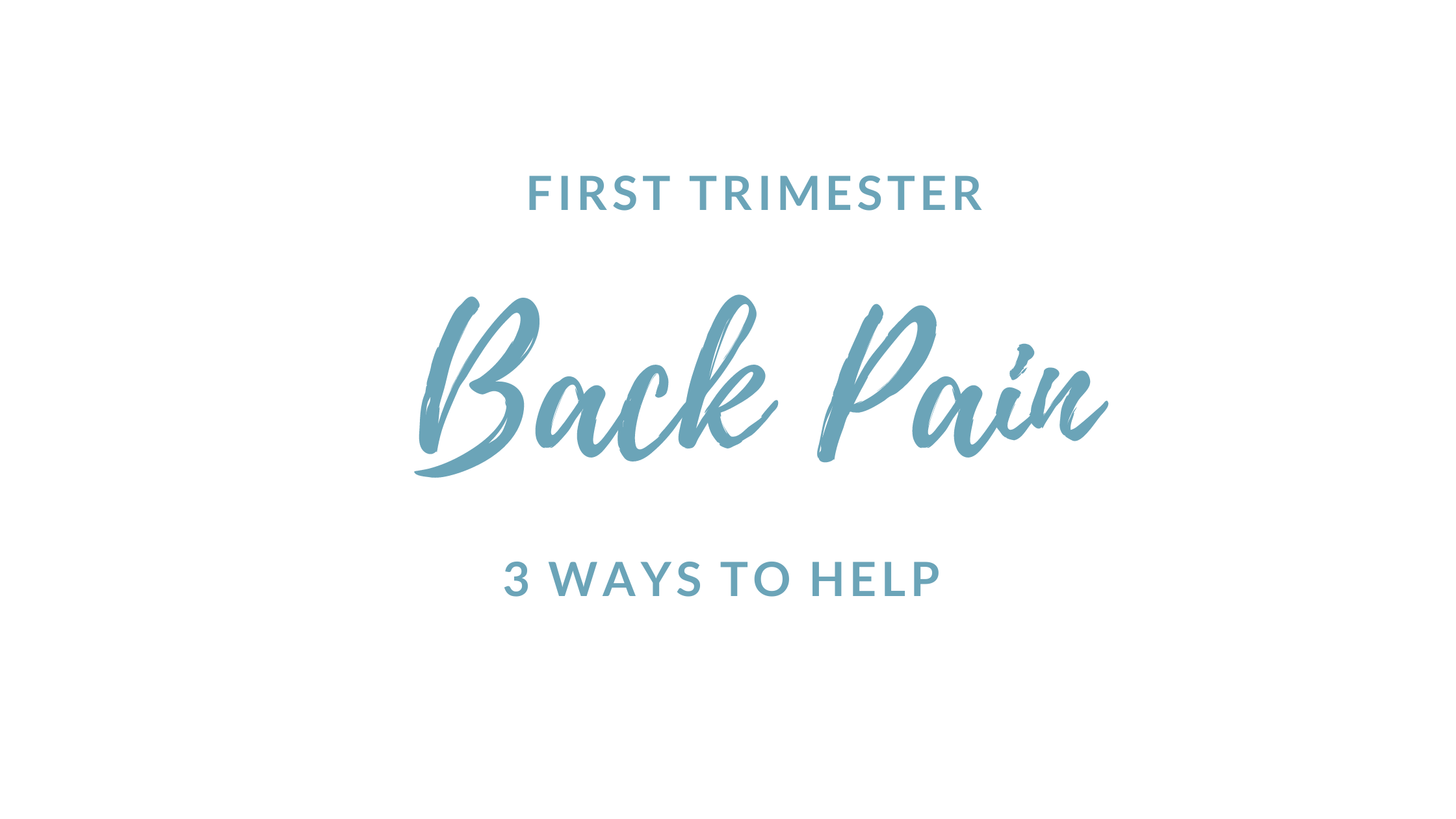First trimester back pain
